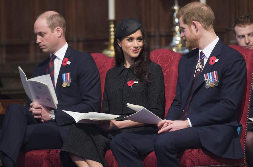 Książę William, książę Harry, księżna Meghan, Meghan Markle, 25.04.2018 rok, Londyn