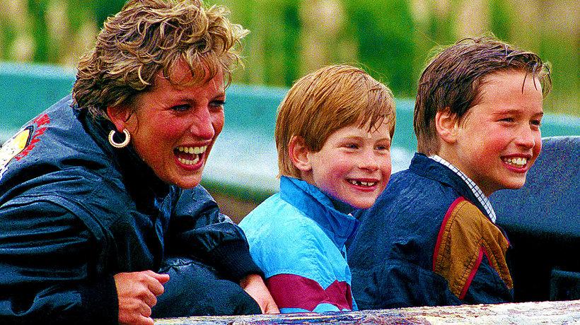 Książę William, księżna Diana, GQ