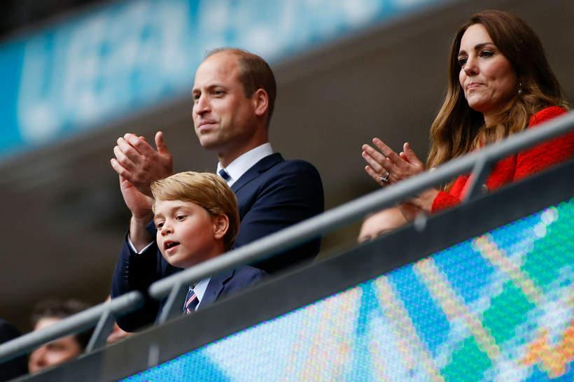 Książę William, księżna Kate i książę George podczas Euro 2020, 29.06.2020, Londyn