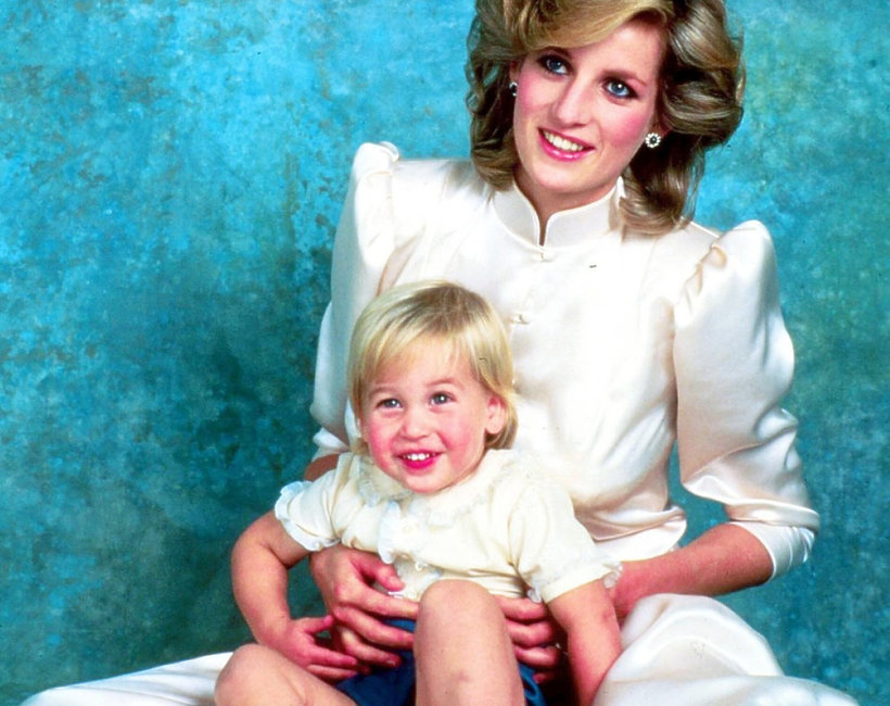 Księżna Diana, książę William, mały William z Dianą