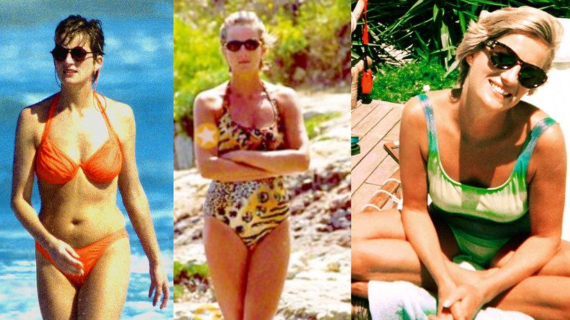 Księżna Diana w kostiumach kąpielowych