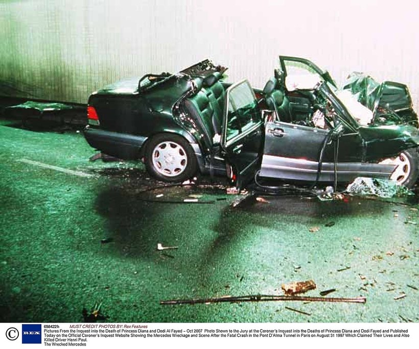 księżna Diana, Wypadek
