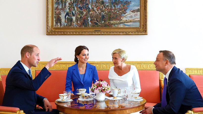 Księżna Kate i książę William w Polsce, Andrzej Duda i Agata Duda, śniadanie w Belwederze
