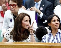 Księżna Kate i księżna Meghan bez mężów na Wimbledonie. Mowa ciała, gestu, prawda o ich relacji