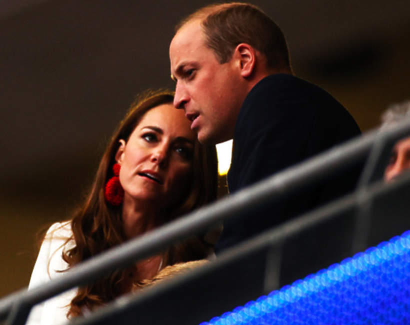 Księżna Kate, książę William, finał Euro 2020, Londyn, Wembley, 11.07.2021 rok