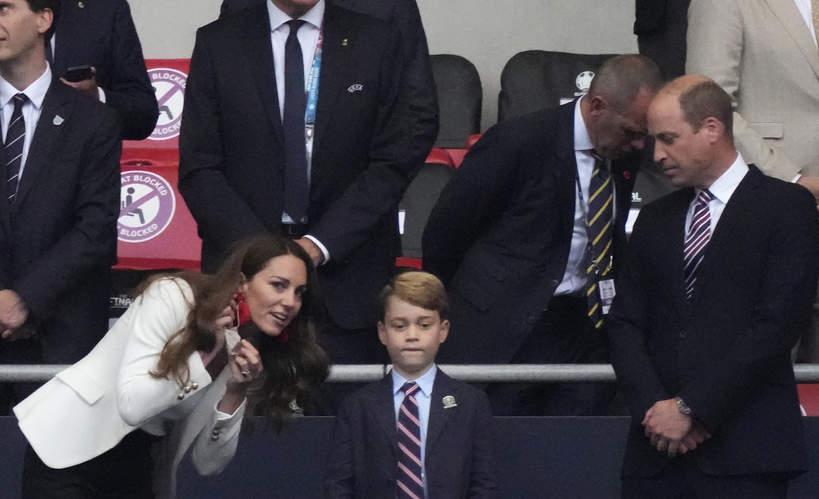 Księżna Kate, książę William, książę George, finał Euro 2020, Londyn, Wembley, 11.07.2021 rok