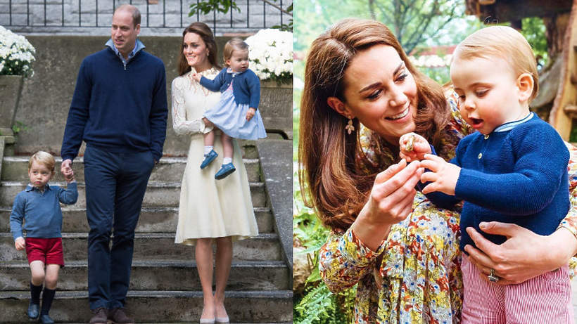 Księżna Kate, książę William, książę Louis, księżniczka Charlotte, książę George