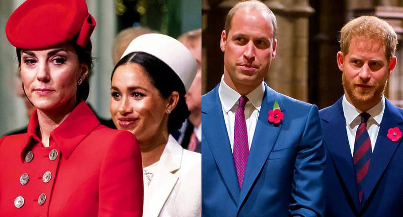Księżna Kate, księżna Meghan, książę William, książę Harry, Meghan Markle