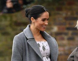 Księżna Meghan w zaawansowanej ciąży na spotkaniu w Brinsworth House. Spodziewa się bliźniąt?
