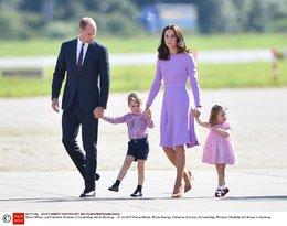 księżniczka Charlotte, książę George, księżna Kate, książę William w Niemczech