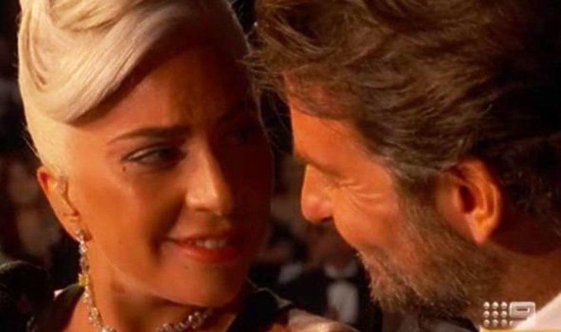 Lady GaGa i Bradley Cooper w trakcie Oscarów 2019 - chciała pocałować aktora?