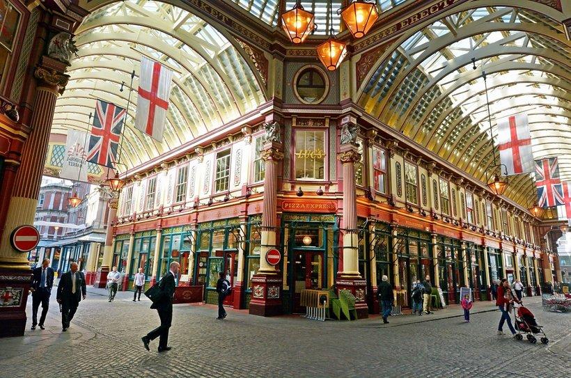 Leadenhall Market. Jeden z najstarszych target w Londynie, powstał w XIV wieku.
