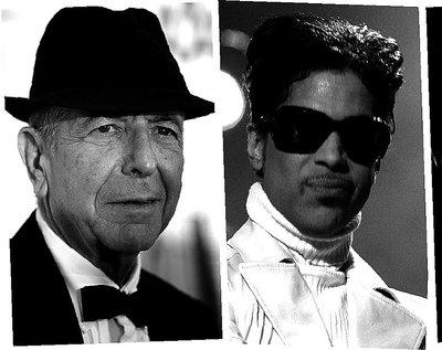 Leonard Cohen, Prince, David Bowie, George Michael