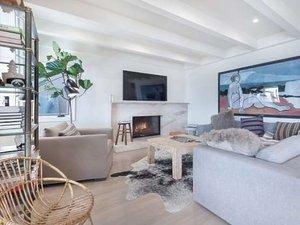 Leonardo DiCaprio, salon, dom w Malibu