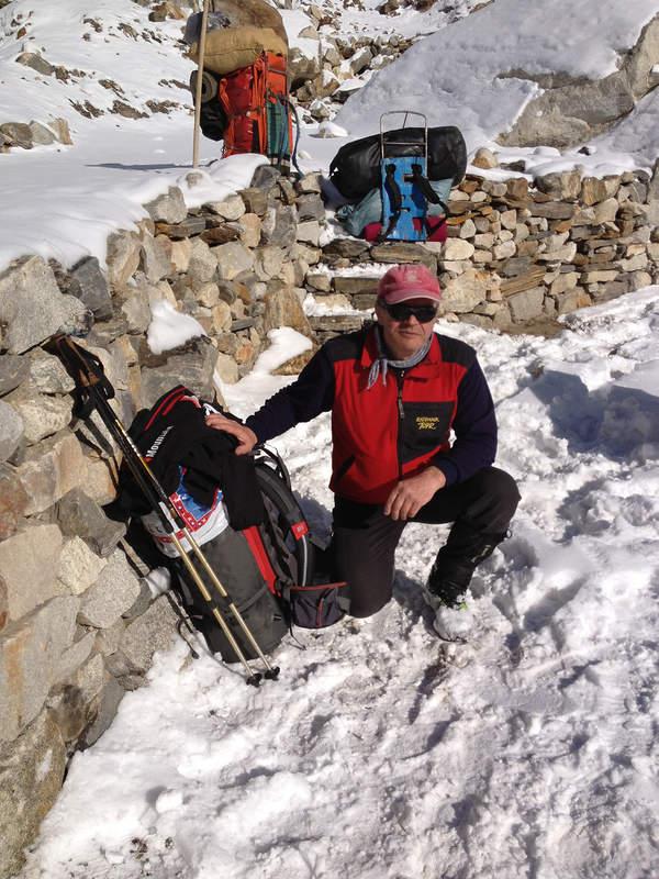 Maciej Berbeka w trakcie wyprawy na Broad Peak, styczeń/luty/marzec 2013