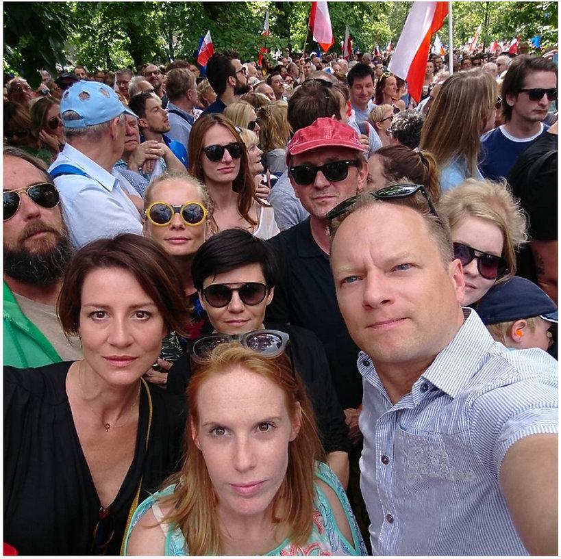 Maciej Stuhr, Maja Ostaszewska, Gwiazdy protestują