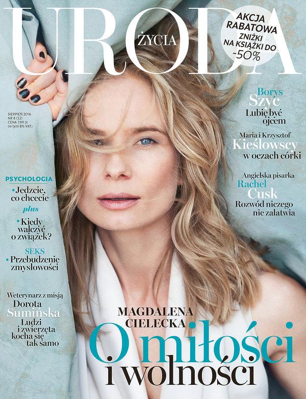 Magdalena Cielecka na okładce Urody Życia