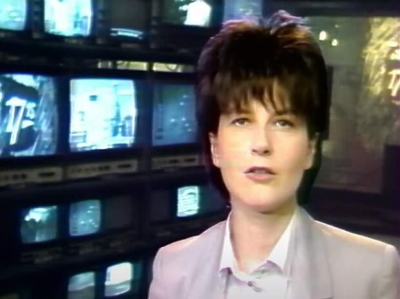 Magdalena Mikołajczak-Olszewska w Teleexpressie, lata 90.