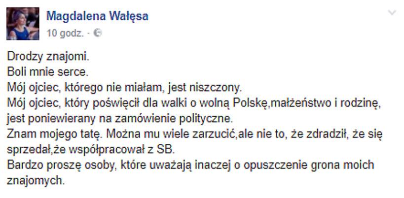 Magdalena Wałęsa o ojcu, najstarsza córka Lecha Wałęsy