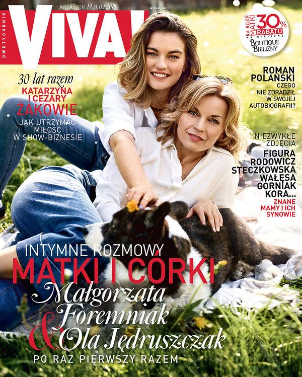 Małgorzata Foremniak i Ola Jędruszczak, VIVA! maj 2016