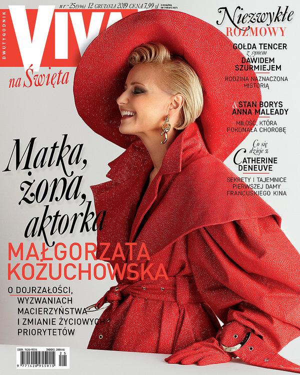 Małgorzata Kożuchowska, VIVA! grudzień 2019, 25/2019, okładka mniejsza