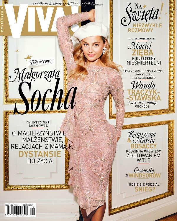 Małgorzata Socha, VIVA! 24/2020, Małgorzata Socha, VIVA! grudzień 2020, okładka