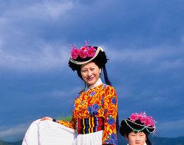 Mama i córka z ludu Mosua w prowincji Yunnan w Chinach