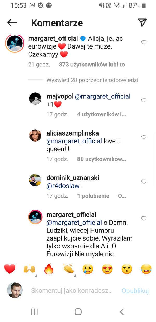 Margaret wulgarnie o Eurowizji. Stanęła w obronie Alicji Szemplińskiej