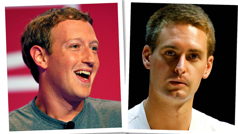 Mark Zuckerberg, Even Spiegel, Facebook, Snapchat, main topic