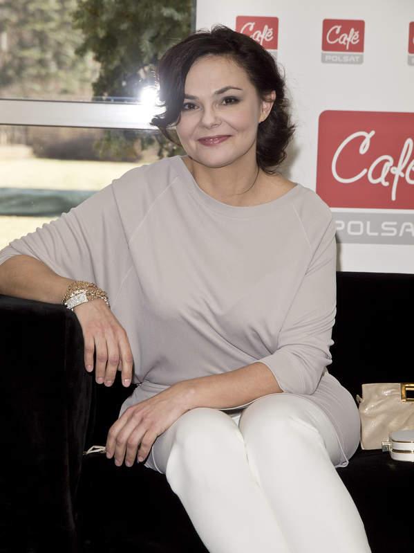 Marta Grzywacz, Warszawa, 08.03.2012 rok, konferencja prasowa Polsat Cafe