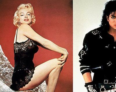 Marylin Monroe, Michael Jackson, James Dean