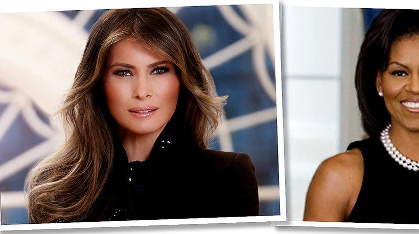 Melania Trump, Michelle Obama, pierwsze oficjalne zdjęcie Melanii Trump