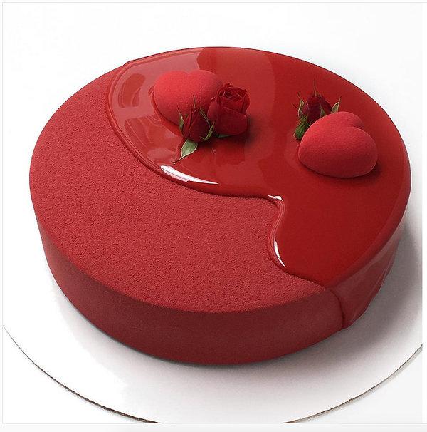 mirror cakes, torty