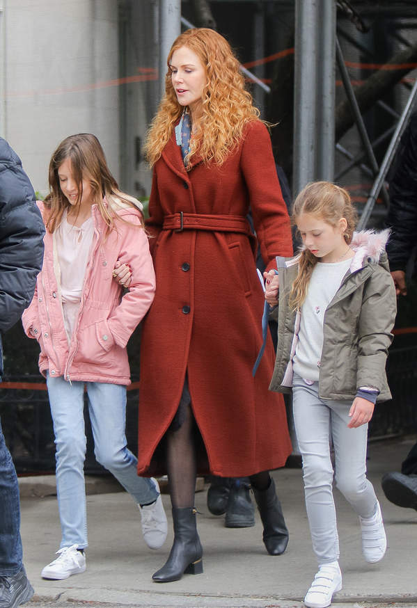Nicole Kidman, córki Nicole Kidman, Faith Margaret, Sunday Rose, 29.03.2019 r., Nowy Jork