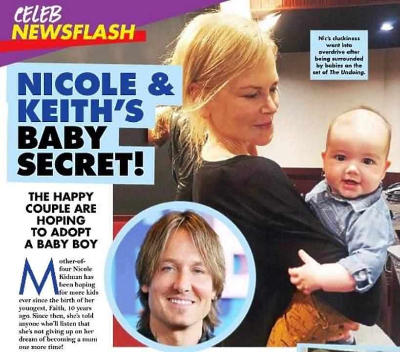 Nicole Kidman, dziecko Nicole Kidman, Nicole Kidman chce adoptować dziecko