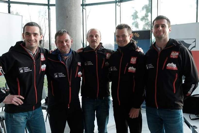 Od lewej: Maciej Kulig, Ireneusz Czop, Łukasz Simlat, Dawid Ogrodnik i Maciej Raniszewski