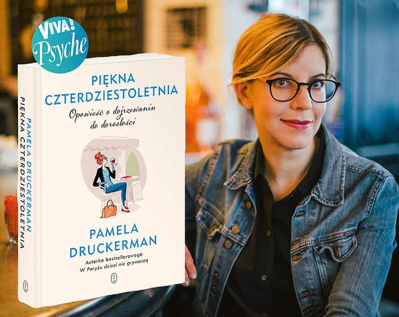 Pamela Druckeman z książką, NAKLEJKA PSYCHE