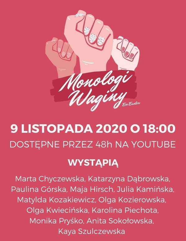 Performance o kobiecości, Monologi Waginy
