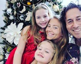 Piotr Rubik i Agata Rubik z córkami: 9-letnią Heleną oraz 5-letnią Alicją