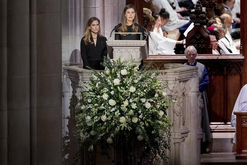 Pogrzeb George'a W. Busha Seniora: wnuczki prezydenta, Lauren Bush i Ashley Walker Bush