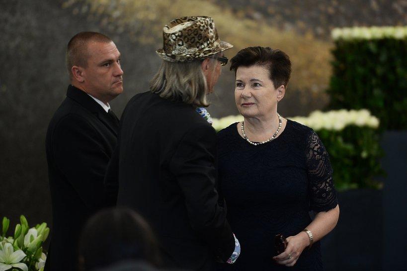 Pogrzeb Kory na Powązkach w Warszawie: Hanna Gronkiewicz-Waltz, prezydent Warszawy