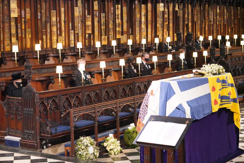 Pogrzeb księcia Filipa, 17.04.2021 rok, wnętrza kaplicy św. Jerzego w Windsorze