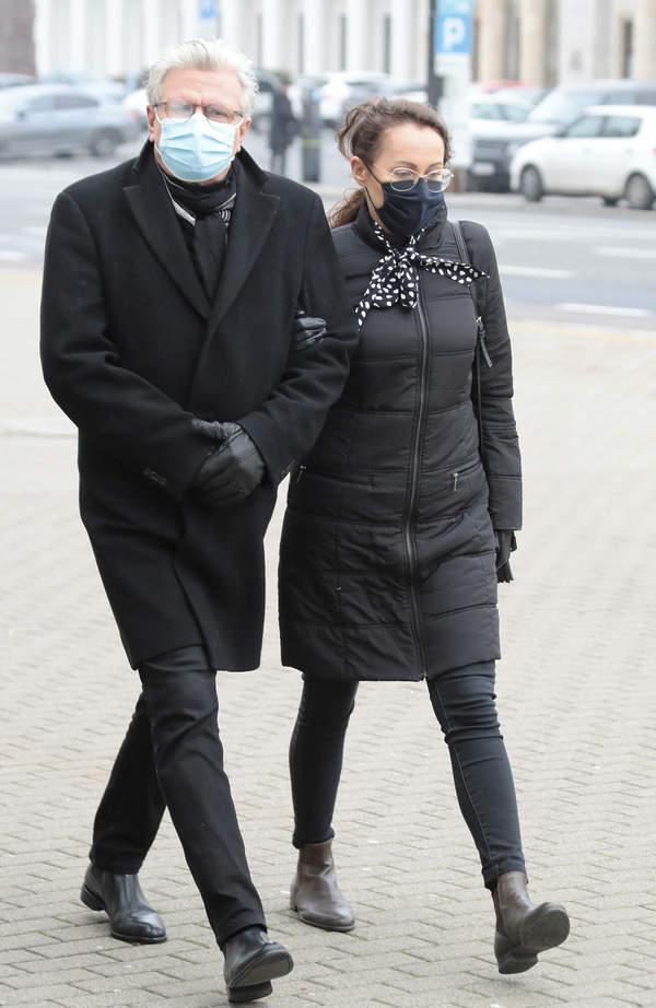 Pogrzeb Piotra Machalicy: Emilian Kamiński, Justyna Sieńczyłło, 18.12.2020