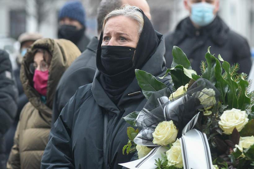 Pogrzeb Piotra Machalicy: Krystyna Janda, 18.12.2020