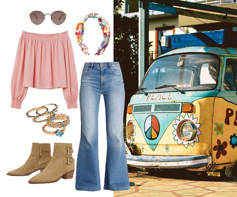 przebranie w stylu hippie