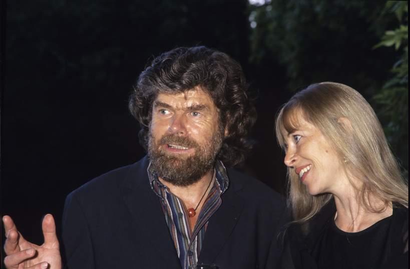 Reinhold Messner, jego żona Sabine Stehle, 01.08.2002 rok