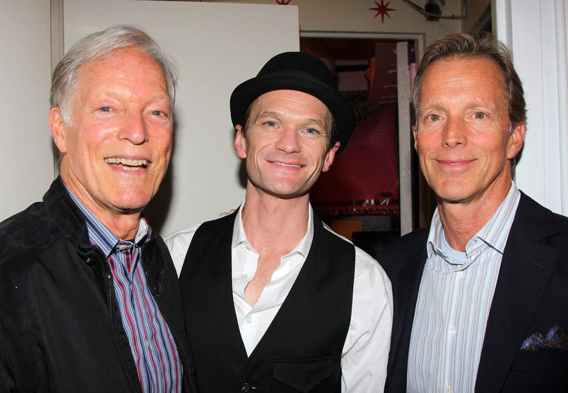 Richard Chamberlain, jego partner Martin Rabbett oraz Neil Patrick Harris, 27.05.2014