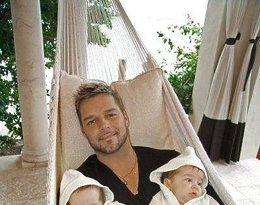 Ricky Martin z synami, Matteo Martin, Valentino Martin