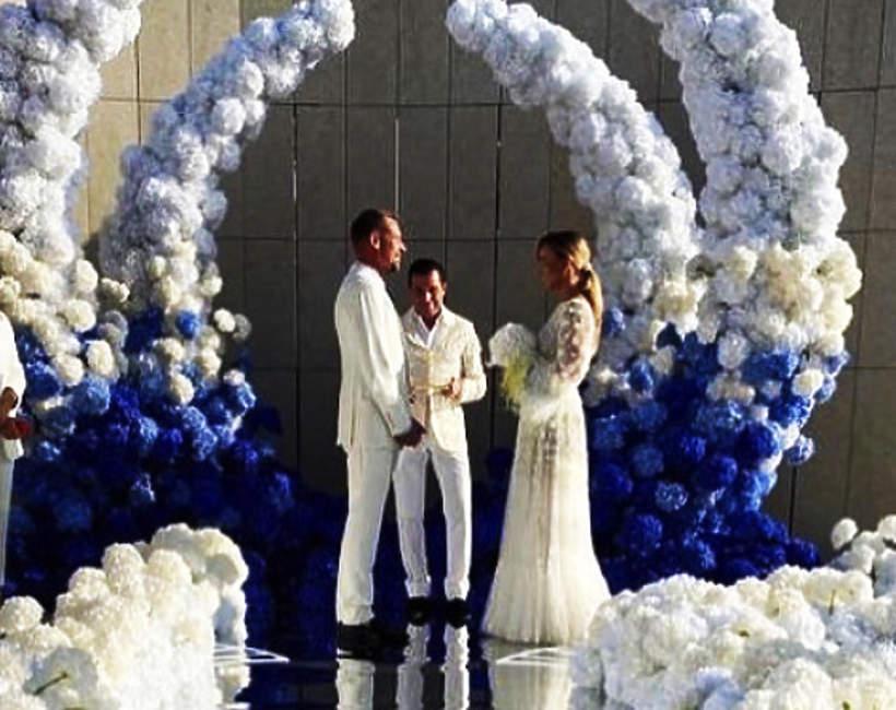 Rinke Rooynes, Joanna Przetakiewicz, ślub i wesele w Grecji, suknia ślubna Przetakiewicz