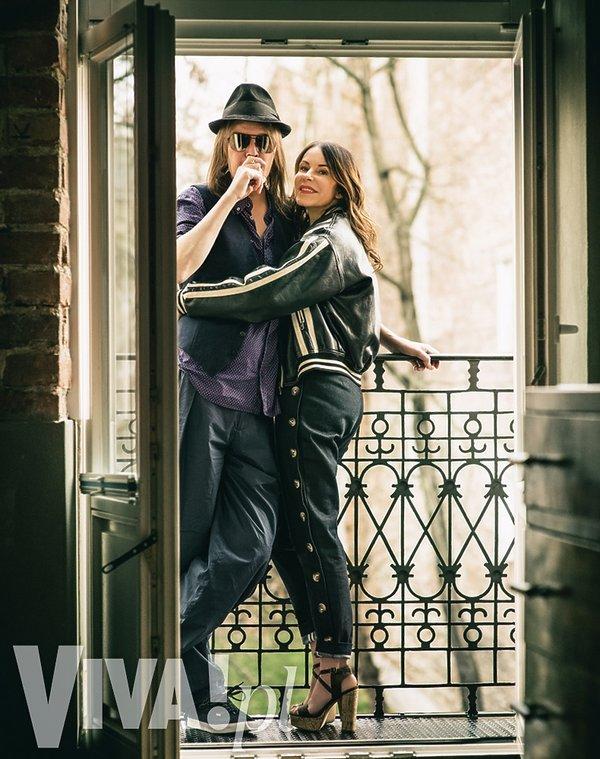 Robert Gawliński z żoną Moniką
